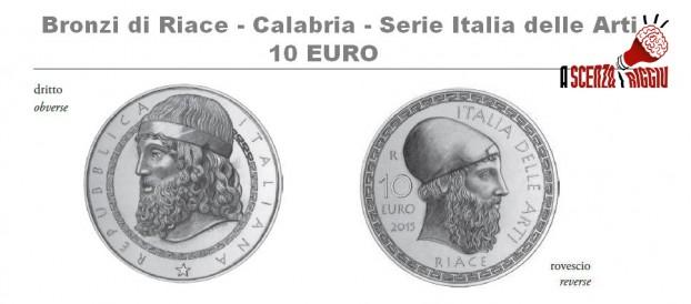 I BRONZI DI RIACE SULLA MONETA DA 10 EURO