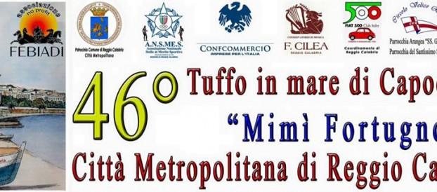 """TUTTO PRONTO PER IL 46° TUFFO IN MARE DI CAPODANNO """"MIMI' FORTUGNO"""" CITTA' METROPOLITANA DI REGGIO CALABRIA"""