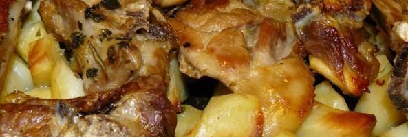 Ricette di Calabria: agnello al forno con patate