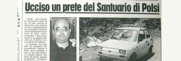 POLSI: IL BUSTO DEL SACERDOTE UCCISO IN AGGUATO MAFIOSO COLLOCATA NELL'AREA DEL SANTUARIO.