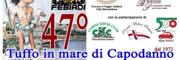 TUTTO PRONTO PER IL 47° TUFFO IN MARE DI CAPODANNO A REGGIO CALABRIA