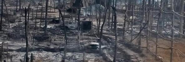 INCENDIO ALLA TENDOPOLI DEI MIGRANTI A SAN FERDINANDO, UN MORTO