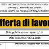 REGGIO CALABRIA: OFFERTA DI LAVORO PER BANCONISTA – ADDETTO ALLA RISTORAZIONE
