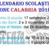 REGIONE CALABRIA: IL CALENDARIO SCOLASTICO 2018/19