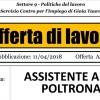 REGGIO CALABRIA. OFFERTA LAVORO: STUDIO ODONTOIATRICO RICERCA N° 2 ASSISTENTE ALLA POLTRONA
