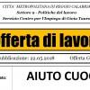 REGGIO CALABRIA: OFFERTA DI LAVORO PER AIUTO CUOCO IN CENTRO COMMERCIALE