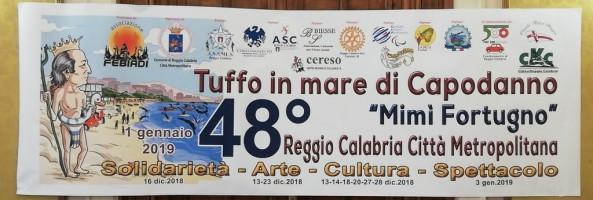 """Reggio, tutto pronto per la 48ᵃ edizione del """"Tuffo in mare di Capodanno"""