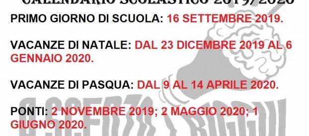Calendario Da Settembre 2019 A Giugno 2020.Regione Calabria Il Calendario Scolastico 2019 20