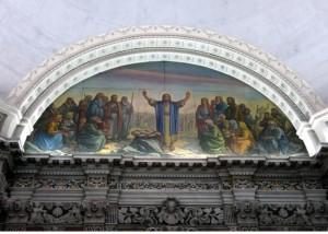 nunzio bava Moltiplicazione dei pani, affresco nel lunettone sinistro cappella S.S Sacramento nel duomo di Reggio Calabria