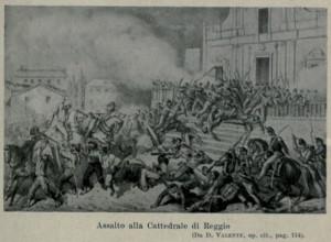 battaglia duomo di Reggio 21 agosto 1860