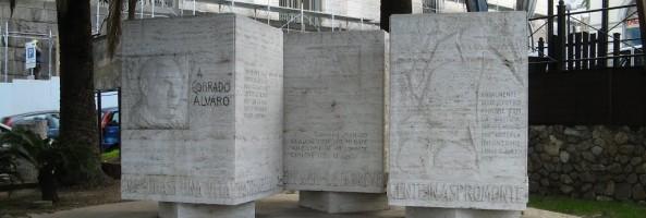 IL MONUMENTO A CORRADO ALVARO SUL LUNGOMARE REGGINO