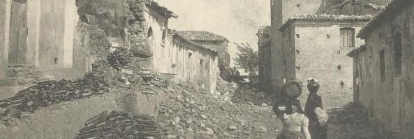 TERREMOTO DELLA CALABRIA DELL' 8 SETTEMBRE 1905